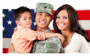 veteran and family