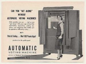 Ad for Automatic Voting Machine