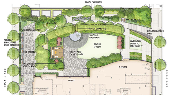 overview drawing of tellus landscape design