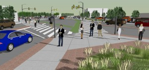 Clarendon Circle north view rendering