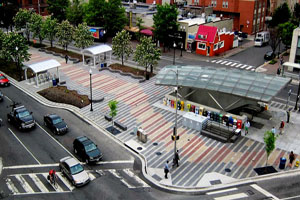 Clarendon Metro Plaza was a complete streets project.