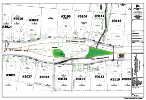 Draft rain garden design for John Marshall Green Street project.