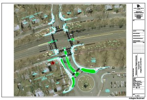 Arlington Boulevard and Park Drive Intersection Safety Improvements 75 percent concept design.