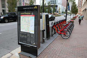 Capital Bikeshare installations are funded by the Vehicle Decal Fee Program.
