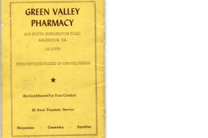 Green Valley Pharmacy ad 1958