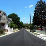 North 9th Street with new sidewalks and curbs