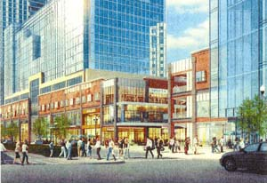 Drawing for a redeveloped Ballston Common Mall