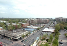birds eye view of Columbia Pike