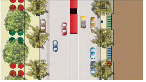 Aerial rendering of the future 18th Street South realignment.