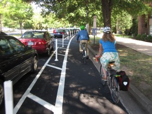 Protected bike lane photo