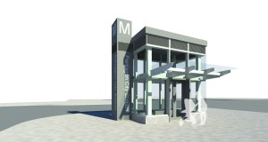 Design concept rendering for the second elevator