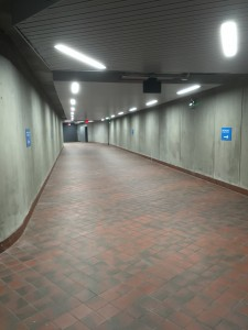 Photo of renovated tunnel passageway