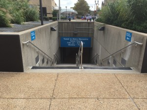 Photo of renovated tunnel entrance at street level