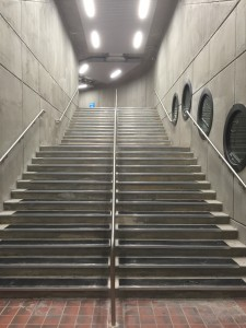 Photo of renovated tunnel stairs