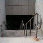 Tunnel stairs before renovation