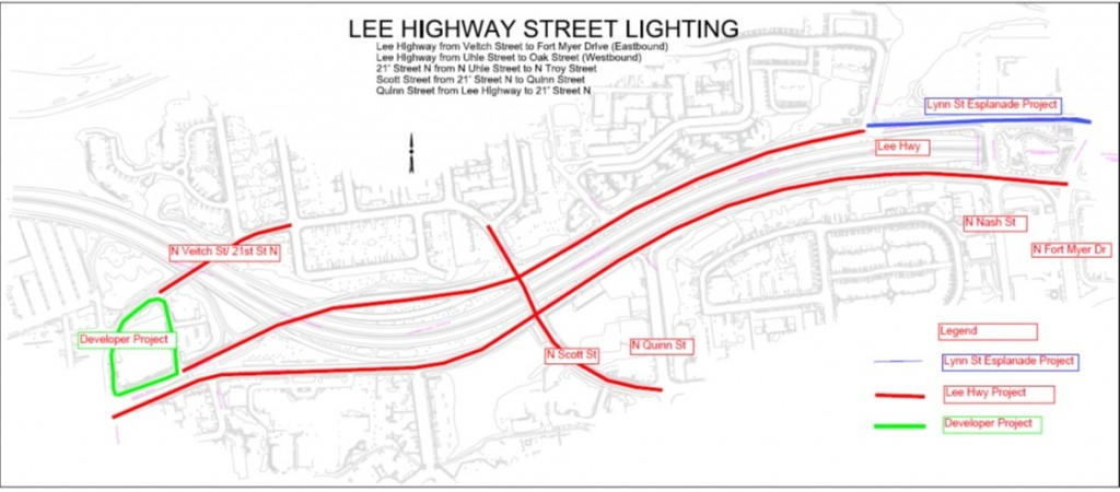 Lee Highway street lights project Image of Project map from N. Fort Myer Dr. to N. Veitch St ...  sc 1 st  Projects u0026 Planning - Arlington County & Lee Highway Streetlights Project - Projects u0026 Planning