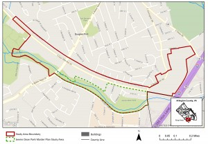 Four Mile Run Valley Boundary Map