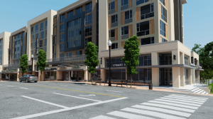 Artistic rendering of 2400 Columbia Pike at street level