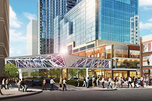 artistic rendering of new ballston pedestrian bridge