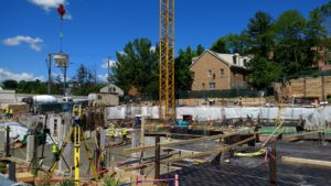 garage construction progress at 4707 columbia pike
