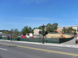 construction progress at 4707 Columbia Pike
