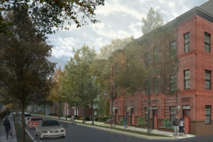 view of north parcel townhomes along north vermont street