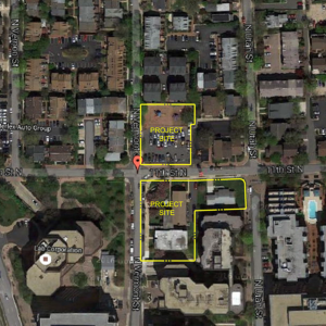 map of two properties at 11th and vermont