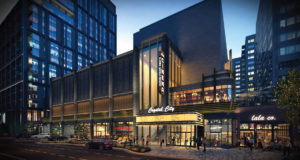 artistic rendering of crystal square retail rendering