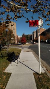 Bus stop at South Eads Street & 23rd Street South, after ADA improvements