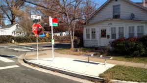 Bus stop at North Barton Street & 9th Street North, after ADA improvements