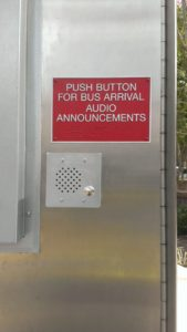 Assisted listening device - Columbia Pike and Walter Reed Transit Stop