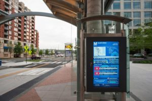 Real-time transit arrival display - South Glebe Transitway station