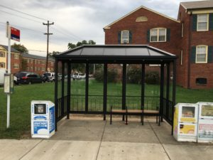 Bus stop at 16th Street South and South Four Mile Run Drive, after improvements