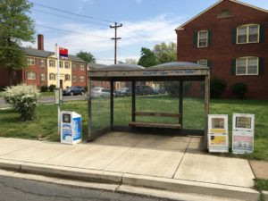 Bus stop at 16th Street South and South Four Mile Run Drive, before improvements