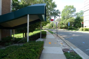 Southbound bus stop between I-395 ramp and South Lynn Street