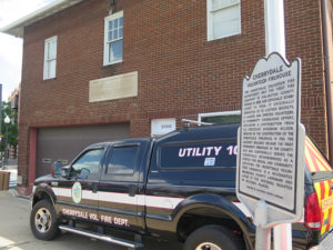 cherrydale volunteer firehouse and historic preservation plaque