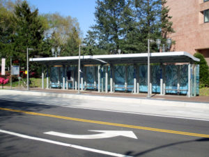 Existing Transitway station on Crystal Drive at 18th Street South