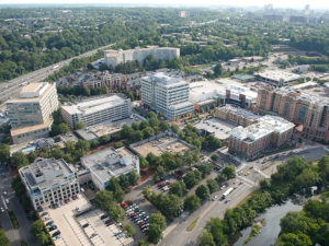 birds eye view of shirlington neighborhood