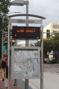 Real-time bus arrival display on the Transitway