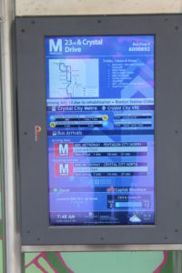 Real-time transit information display on the Transitway