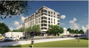 rendering of completed 3445 washington boulevard from the exterior