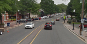 Google streetview of Washington Boulevard, looking east from McKinley Rd