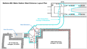 Ballston Metro Station West Entrance project layout
