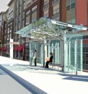 Rendering of transit station design