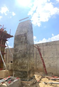 3M springboard dive tower base formwork stripped
