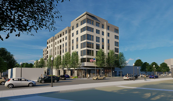 artistic rendering of APAH project exterior