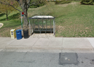 Photo of a bus stop