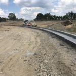 Curb and Gutter installation along the East side of the main drive aisle.