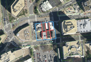 birds eye view of courthouse landmark block boundaries