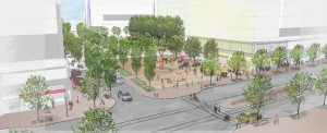 PenPlace development will include a public plaza.